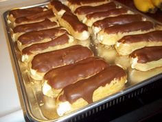 Chocolate Eclairs with an easy recipe!