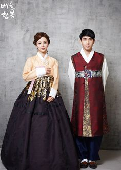 Korean traditional clothes. #wedding #marriage #couple