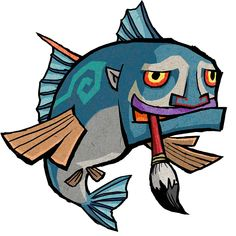 Cartographer Fish - Characters & Art - The Legend of Zelda: The Wind Waker HD