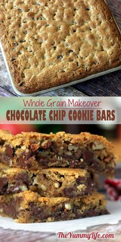 A healthier recipe makeover using whole wheat flour and flaxseed that tastes like the original Toll House blondie recipe favorite.