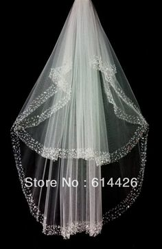 veils wedding white or ivory beading wedding accessories wedding veil bridal veil veil for wedding al4719 $14.80