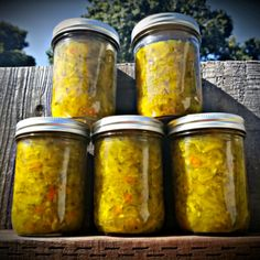 My mother's sweet zucchini relish is a family favorite. It's delicious on hamburgers and hot dogs. Zucchini Relish Recipes, Canning Zucchini, Zucchini Pickles, Zuchinni Recipes, Zuchini Relish, Squash Relish Recipe, Zucchini Salsa, Zucchini Frittata, Zucchini Parmesan