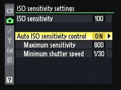 Using the ISO Controlling Features on a Nikon D7000