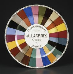 Réunion des Musées Nationaux-Grand Palais: Nuancier de la maison Lacroix, 24 couleurs vitrifiables de A.Lacroix chimiste, Limoges, Musée Adrien Dubouché