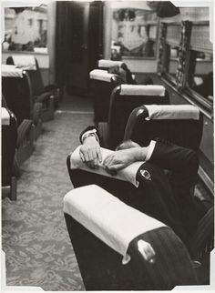 Robert Frank, Man Resting Aboard the Congressional Limited (1955)