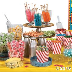 Carnival Candy Buffet Idea - OrientalTrading.com