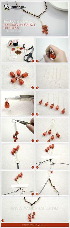Jewelry Making Tutorial-DIY Fringe Necklace for Girls   PandaHall Beads Jewelry Blog