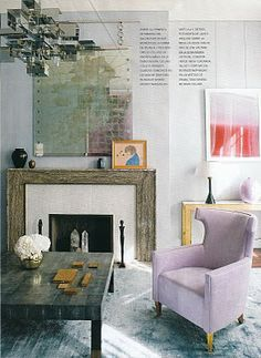 obsessing over lilac, pink, navy, gold and abstract art, all together now