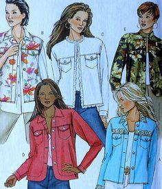 Jacket Sewing Pattern UNCUT Butterick B4741 Sizes 8-14