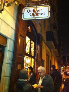 Quimet y Quimet - fourth generation family run vermouth and tapas bar. Featured by Anthony Bourdain. (Known for food out of the cans but blended and presented beautifully)