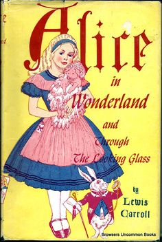 Lewis Carroll : Alice in Wonderland, US edition with illustrations from John Tenniel. Alice Book, Alice In Wonderland Book, Adventures In Wonderland, John Tenniel, Lewis Carroll, Inspiration Artistique, Vintage Book Covers, Vintage Books, Atc Cards