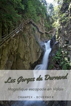 Idée de sortie en Valais: les gorges du Durnand. Situées entre Bovernier et Champex ces gorges impressionnantes ne sont pas pour ceux qui souffrent du vertige.  #gorges #gorgesdurnand #champex #valais #myvalais #ineedswitzerland #suisse #inlovewithswitzerland #breya #durnand Destinations, Waterfall, Hiking, Outdoor, Blog, France Vacations, France Travel, Vertigo, Walks