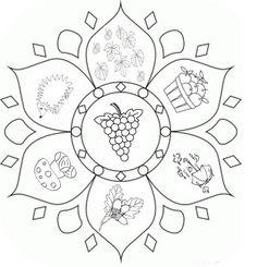 Coloring page Fall's Mandalas