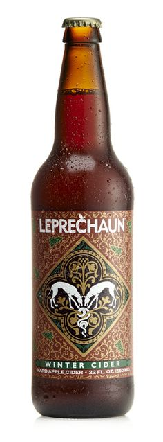"""Leprechaun Winter Cider  Into a base of our traditional Dry Cider, we've blended fresh plum and cranberry juices. To add a hint of the season, we've infused Oregon spruce needles inside, just like seeping a bag of """"forest tea"""". Lo and behold our lovely Winter Cider.  With a perfect balance of tart cranberry acidity, lighter, sweeter fruit notes of apple and plum, and a slight hint of seasonal spruce needles, we've created the perfect drink for your long winter nights."""