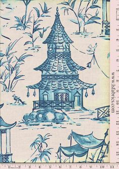 Pagodas Cotton | Lewis and Sheron Fabrics