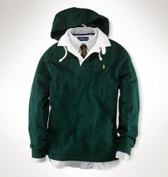 Ralph Lauren 1031 Classic Fleece Hoodie in Green