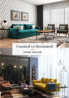 Do you prefer a designer look or a personalised touch? #interiordesign #curated #homedecor