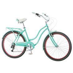 Women's Schwinn Perla 26-Inch Tire Cruiser Bike, Lt Green