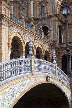 Puente sobre el Canal en Plaza de España, Sevilla