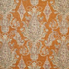 Gorgeous cognac traditional decorator fabric by Pindler. Item BAL055-OR01. Low prices and free shipping on Pindler. Always first quality. Over 100,000 luxury patterns and colors. Width 54 inches. Swatches available.