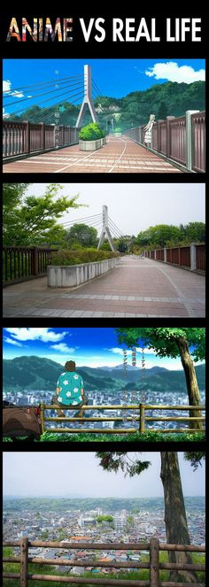 Anime vs. Real Life… I didn't know it was an actual place!! This is from the anime Ano Hana