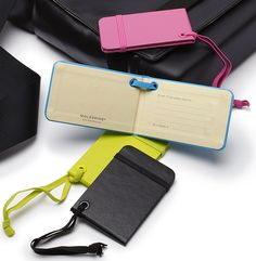 Moleskin luggage tags are the perfect way to mark your luggage in style!