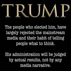 Exactly.... Is Trump perfect? No... But, he is doing a good job as President. He is not a polished politician that tells you what you want to hear... He tells it like it is!