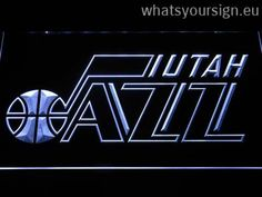 Utah Jazz Badge - LED neon sign light display made of the best-quality transparent plastic and intense colorful LED illumination. The neon sign displays exactly the same from every angle thanks to the carving with the modern 3D laser engraving technology. This LED neon sign is a great gift idea! The neon is provided with a metal chain for displaying. Available in 3 sizes in following colours: Orange, Yellow, Purple, Red, White, Green and Blue!