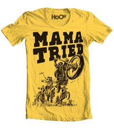 Handscreened Mama Tried Vintage TShirt Print by pill on Etsy, $18.00