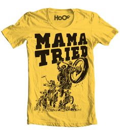 Handscreened Mama Tried Vintage TShirt Print by pill on Etsy, $18.00