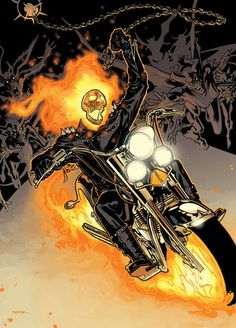 Ghost Rider by Ryan Sook Comic Book Artists, Comic Artist, Comic Books Art, Ghost Rider Johnny Blaze, Ghost Rider Marvel, Marvel Comics Art, Marvel Heroes, Ms Marvel, Captain Marvel