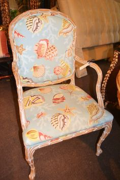Shell Print Chairs - 2 Arms, 4 Sides