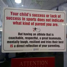 Teaching your child to deal with failure, insecurity, unfairness, inability, etc., instead of simply training them to WIN. Love this!