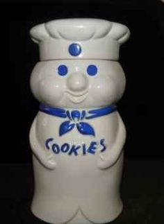 Vintage 1973 Pillsbury Doughboy Cookie Jar...when I'm dead this will be my urn.