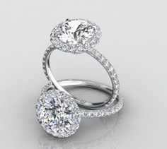 Pave Diamond Halo Ring , Pave Engagement Rings, Pave Ring | Eternity By Yoni