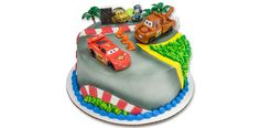 How-to Make a Cars 2 World Grand Prix Round Cake