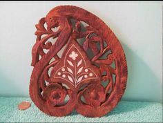 Carved Wood, Hand Carved, Indian Kitchen, Carving, How To Make, Vintage, Ebay, Joinery, Indian Cuisine