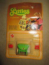 Vintage Mattel The Littles Dollhouse Drop Leaf Table New NIB 1980 Die Cast 1789