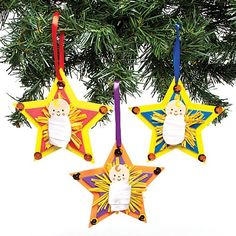 Baby Jesus Star Decoration Kits - a great activity for home or groups like Sunday schools #Nativity #Christmas #KidsCraft