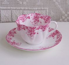 "Shelley Fine Bone China ""Dainty Pink"" Cup and Saucer"