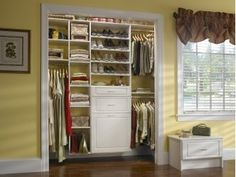 Cute closet without doors