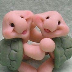 Hugging turtles