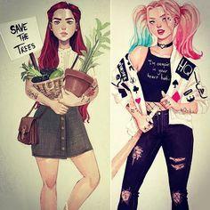 Ivy + Harley as teens