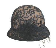 Women's Lace Cloche Hat ~ CUTE! (found here: http://www.topanien.com/products/3925.html)