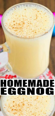 How to Make Homemade Eggnog Recipe HOW TO MAKE EGGNOG Quick easy homemade rich creamy non alcoholic made with simple ingredients Can be spiked with alcohol Can be used to. Drinks Alcohol Recipes, Yummy Drinks, Drink Recipes, Eggnog Recipe With Alcohol, How To Make Eggnog, Holiday Recipes, Christmas Recipes, Christmas Foods, Winter Recipes