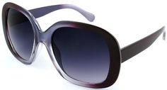 Edge I-Wear New Jackie O Style Oval Frame Plastic Women Sunglasses. 31684P-MIX(CLEAR PURPLE) Edge I-Wear. $8.95