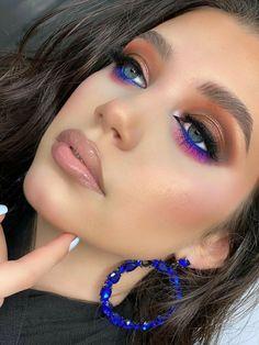 Fancy Makeup, Colorful Eye Makeup, Edgy Makeup, Creative Makeup Looks, Eye Makeup Art, Gorgeous Makeup, Pretty Makeup, Skin Makeup, Beauty Makeup