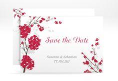 """Save the Date-Karte Hochzeit """"Salerno"""" A6 Karte rot"""