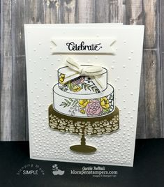 Cake Soiree Stamp set from the 2018 Occasions Catalog from Stampin\' Up! Card Created by Jackie Bolhuis, Klompen Stampers #jackiebolhuis #klompenstampers
