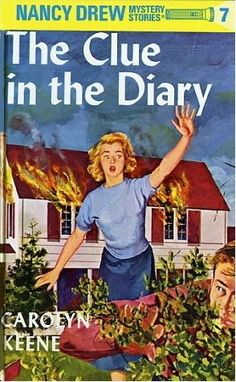 I think this was the first Nancy Drew I owned. Nancy Drew Mystery Stories: The Clue in the Diary Nancy Drew Mystery Stories, Nancy Drew Mysteries, Crime, Nancy Drew Books, Up Book, Book Art, After Life, Book Journal, Journals